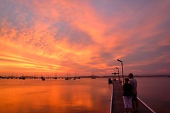 Watch in Wonder (paulhollins) Tags: sunset belmont australia valentine newsouthwales aus cloudsstormssunsetssunrises