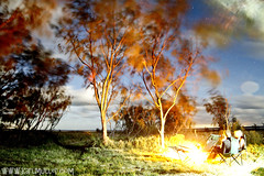 treesSkyFire (Karl Muller) Tags: ocean camping trees sunset summer camp sky moon beach water silhouette stars island fishing colours australia 4wd brisbane campfire snorkelling moretonisland northpoint wrecks yellowpatch
