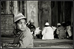 Freedom Calls (ujjal dey) Tags: blackandwhite monochrome mosque dreams bhopal madrasa ujjal muslimboy nikond90 freedomcalls tajulmasjid nikon18105mm ujjaldey ujjaldeyin ujjaldeyphotography
