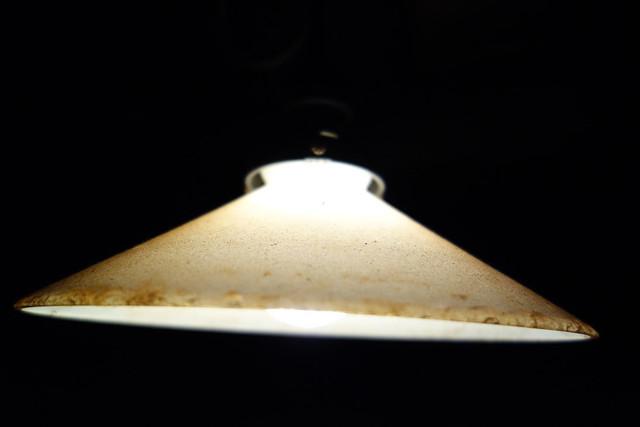 温かみのある電球のランプです。|たてもの園 下町夕涼み