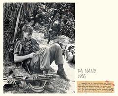 1968 U.S. 1st Cavalry Trooper Reading Book near Phu Phuong