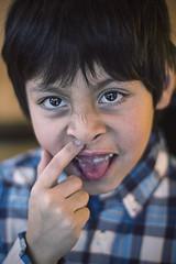 Brother 2 (Freakin' David) Tags: winter light boy portrait 50mm eyes dof brother