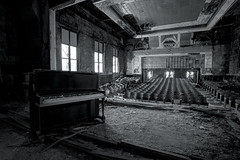 Welcome to the Stage  Explore #4 (Subversive Photography) Tags: school music usa america us pittsburgh chairs theatre decay stage urbandecay apocalypse piano explore urbanexploration seats merrychristmas subversive derelict dichotomy urbex danielbarter
