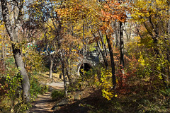central park - mid-november 2012 1 (Doctor Casino) Tags: bridge fall leaves underpass pedestrian tunnel autumncolors