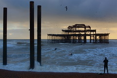 25.12.12 (Greg Wish) Tags: sea beach pier brighton surfer westpier streetphotographynowproject