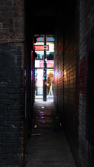 Short St (_DanBaird) Tags: street uk blue light england blur color colour brick beautiful stone wall night canon reflections dark photography eos photo interestingness alley focus europe pretty colours dof depthoffield alleyway short prettylights popular apature picoftheday shortstreet colurs machester 600d outstandingshots outstandingshot canon600d eos600d