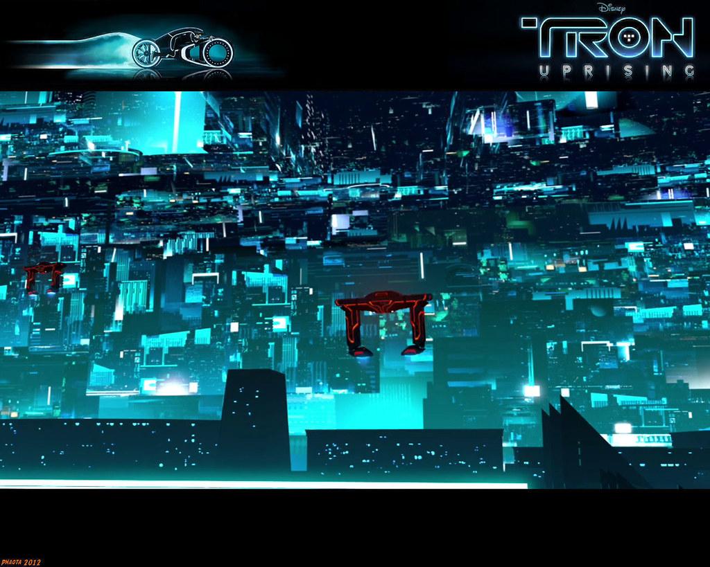 Tron Uprising 219 Phaota2 Tags City Light Wallpaper Building Buildings Computer Lights