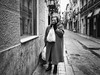 Frightened (unoforever) Tags: street people woman dog valencia monochrome look photography calle mujer gente streetphotography perro streetphoto mirada fotografía spmonochrome bestof2012 unoforever