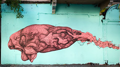 Street Art in Santurce (ep_jhu) Tags: city panorama streetart abstract graffiti mural puertorico graf sanjuan pr organic santurce