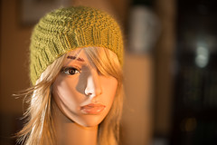 363/366 Introducing Ena (Mark Seton) Tags: uk england hat model flickr creativecommons knitted dummy dailyphoto pictureaday woolyhat project365 knittedhat dailyphotograph flickriver project366362 markseton project365281212