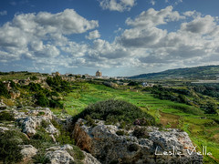 The village of Mgarr from il-Lippija, Malta (leslievella64) Tags: leica winter church rural europe mediterranean village eu malta ridge leslie dome maltese hdr malte mgarr tonemapped maltais leicavlux1 vlux1 leslievella64 maltahdr lippija limgarr illippija wiedilgnejna gnejnavalley