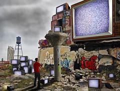 TV graveyard (Notkalvin) Tags: jason strange graveyard television photoshop tv crazy creative odd tele create packard whitenoise digitalmanipulation json boobtube mikekline project366 michaelkline notkalvin notkalvinphotography
