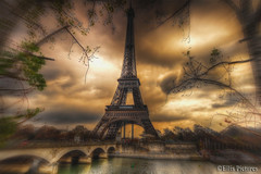 The Eiffel Tower across the La Seine  Revised (Ellis Pictures) Tags: paris eiffeltower hdr laseine