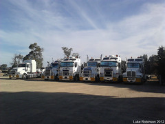 The fleet (LukeRobinson1) Tags: b k truck low australia trucks float loader heavy mack sar rst trucking 104 trident kenworth haulage aerodyne t609 t404 k104 k104b t408 t402