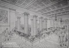Berlin Zeichnung 1829 Haupttreppe des Alten Museums von Schinkel (Wolfsraum) Tags: berlin altesmuseum zeichnung schinkel 1829 haupttreppe
