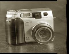 This is THE infrared camera (O9k) Tags: sinarp largeformat analog film directpapershot papernegative viewcamera 9x12 4x5 selfdeveloped homedeveloping studio cameraporn camera stilllife camedia olympus c2000z c2020z digitalcamera sovietlens russianlens industar51