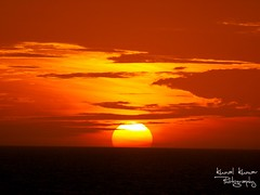 Sunset in the Caribbean (kunalk4) Tags: ocean sunset orange sun beach photography caribbean kunal kumar msh0113 msh01136
