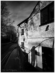 Street Scene - Photographer (Oliver Wood Photography) Tags: shadow blackandwhite monochrome grove brandt bollin prestburycheshire latestprestbury