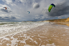 Kitesurfing catch up - Compton Bay, Isle of Wight IMG_9619 (s0ulsurfing) Tags: uk light england sunlight kite playing seascape english beach sports sport canon fun island bay coast sand surf action compton extreme shoreline beachlife kitesurfing september adventure coastal shore isleofwight coastline watersports isle wight 2012 kitesurfer comptonbay beachculture s0ulsurfing tomcourt jasonswain