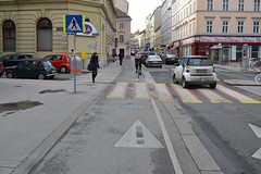 Bicycling lane on downtown of Vienna