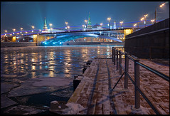 Moscow. Great Stone Bridge and Kremlin. (Yuri Degtyarev) Tags: city bridge winter light brussels ice stone night 35mm river pier photo moscow sony tripod great grand full prix 99 adobe soviet frame m42 yuri 1958 flektogon alpha kremlin manfrotto lightroom     3728     degtyarev   alpha99 a99 mir1 ussrlens 190xb   1  42   slta99