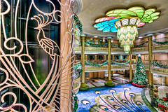 "Disney Fantasy Atrium Lobby Christmas Decorations Peacock • <a style=""font-size:0.8em;"" href=""http://www.flickr.com/photos/8980678@N03/8381407307/"" target=""_blank"">View on Flickr</a>"