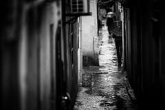 life in the old lanes~ Qibao~ Shanghai (~mimo~) Tags: china street people blackandwhite woman rain umbrella photography alley asia locals shanghai lane narrow expat qibao mimokhair