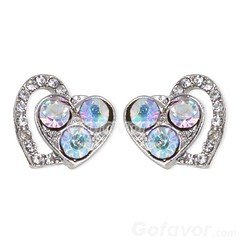 Gorgeous Double Rhinestone Heart Stud Earrings (Grand.Gofavor.Xie) Tags: newearrings heartearrings studearrings rhinestoneearrings gorgeousearrings 2013womenfashion