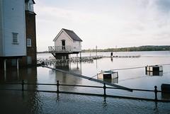 Tewkesbury floods (knautia) Tags: uk england film river flooding december flood weekend olympus ishootfilm gloucestershire xa2 200iso agfa olympusxa2 avon 2012 tewkesbury riveravon floodwater agfavista xa2roll82