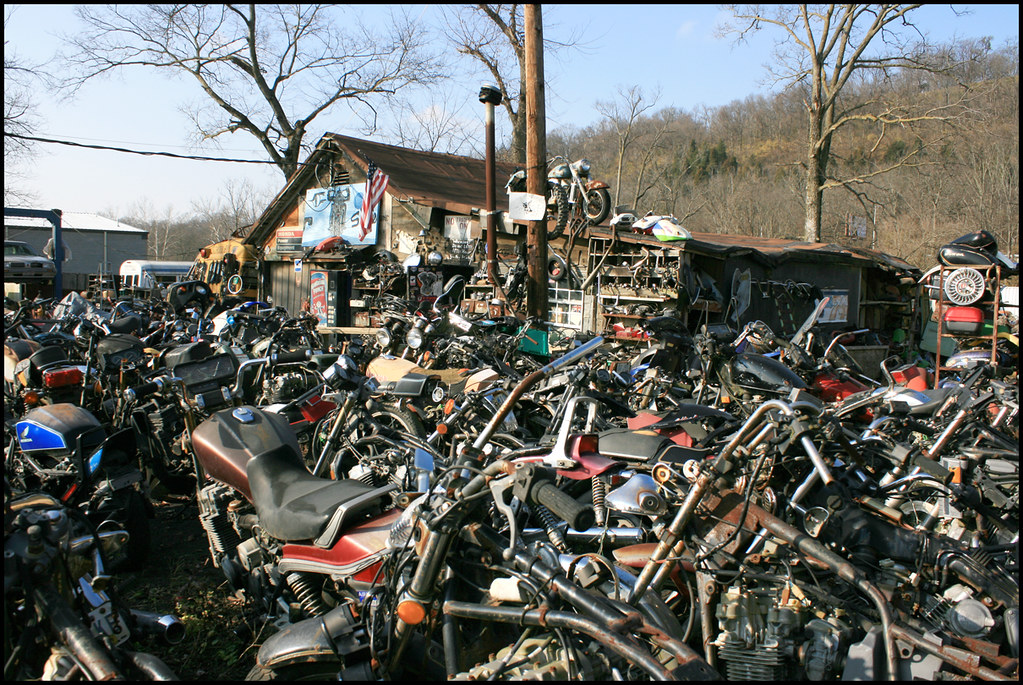 The world 39 s best photos of cincinnati and skips flickr for Motor cycle junk yard
