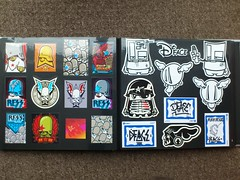 Flying Fortress and D*Face (Messy Inc.) Tags: street art graffiti flying fighter teddy stickers troopers stick fortress dface