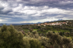... (Theophilos) Tags: trees sky mountains clouds landscape village olive crete rethymno
