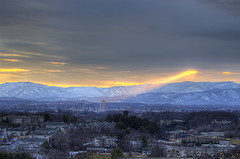 Sunset Spotlight - Roanoke VA Photography Terry Aldhizer (Terry Aldhizer) Tags: sunset sky snow mountains virginia ray spotlight beam roanoke terry salem hdr vinton blueribbonwinner diamondclassphotographer flickrdiamond aldhizer terryaldhizercom