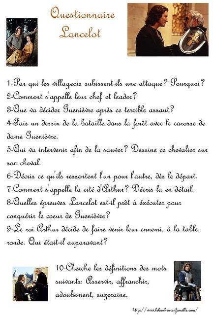 questionnaire lancelot