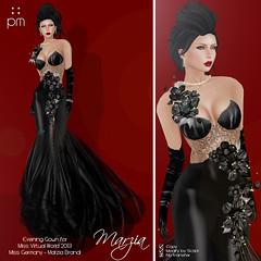Marzia in Black (http://www.purplemoonsl.com) Tags: fashion evening dress formal sl secondlife gown pm pageant mvw purplemoon pouletkoenkamp
