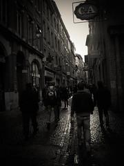 Rue Saint-Rome I (xwattez) Tags: street bw afternoon nb toulouse rue 2013 saintrome