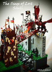 The Siege of Lost Souls (Mark of Falworth) Tags: castle landscape war dragon lego battle scene medieval cc fantasy fortress siege lcc moc loreos