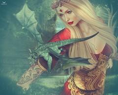 Fae~Dragon Lady (Skip Staheli (Clientlist closed)) Tags: avatar dragons sl digitalpainting fantasy secondlife dreamy virtualworld skipstaheli faenocturne