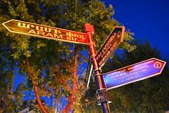 DSC_9199 (spartacus mills) Tags: street dusk armenia signpost yerevan nikond7100