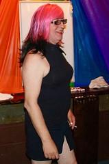 July 2016 (Patrice Bailey) Tags: pink mini cd crossdress crossdresser crossdressing ts tv tg trans tranny transgender transvestite tgirl tgurl gurl out club glasses