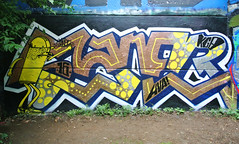 saner (SaNeR hVa KgB) Tags: aerosol art tag terrain typo mur couleur bombe colors ptdq paris peinture painting lettrage letters lettres lettering kgb hva handstyle character graff graffiti france saner spot quicky writing writer wildstyle wall can