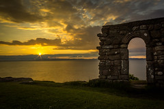 Ruined Sunset (ian.emerson36) Tags: sunset coast church ruins sea arch heritage nationaltrust heysham clouds sun lancashire england canon