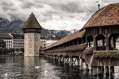 kapellbrcke (AlistairKiwi) Tags: chapel bridge lucerne luzern switzerland river travel kapellbrcke sony rx100 mk2