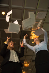 After meeting (VisitLakeland) Tags: scandic hotel meeting kokous nainen woman women naiset business ty work paperi heitt throw ilmaan ilmassa leijua air paper