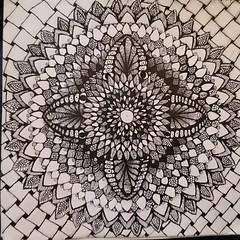 Decorativedala (Miserable_Wench) Tags: mandalas mandaladoodle zentangleinspired zendala sacredgeometry ink blackandwhite blackwork black