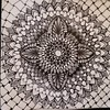 Decorativedala (Miserable_Wench) Tags: mandalas mandaladoodle zentangleinspired zendala sacredgeometry ink blackandwhite blackwork black