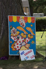 west suburban clown club sign. showmens rest 2016 (timp37) Tags: sign illinois west suburban clown club august 2016 showmens rest forest park woodlawn cemetary