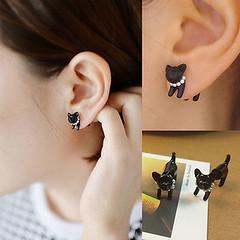 1pc Fashion Lovely Cute Pearl Leopard Cat Ear Stud Womens Mens Piercing Earring (1800PetsAndVets.com) Tags: cute earring fashion leopard lovely mens pearl piercing stud womens