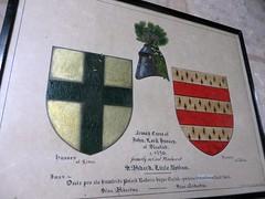 Little Bytham, Lincolnshire (jmc4 - Church Explorer) Tags: heraldry shield bytham church lincolnshire little byham littlebyham hussey pollard polard