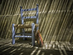 Still life of chair and book III (ParadoX_Design) Tags: chair book still lfe old vintage minimal blue pascal pensees life